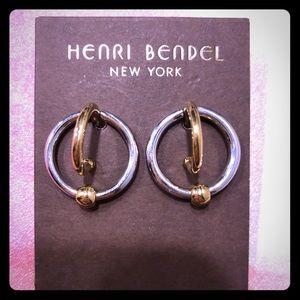 Henri Bendel two-toned circle earrings